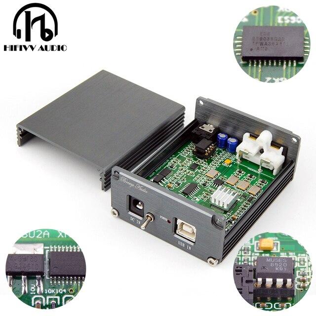 Dekoder PC DAC hifi ES9038Q2M i XMOS u308 wejście USB RCA i 3.5mm wyjście do wzmacniacza DSD PCM dac