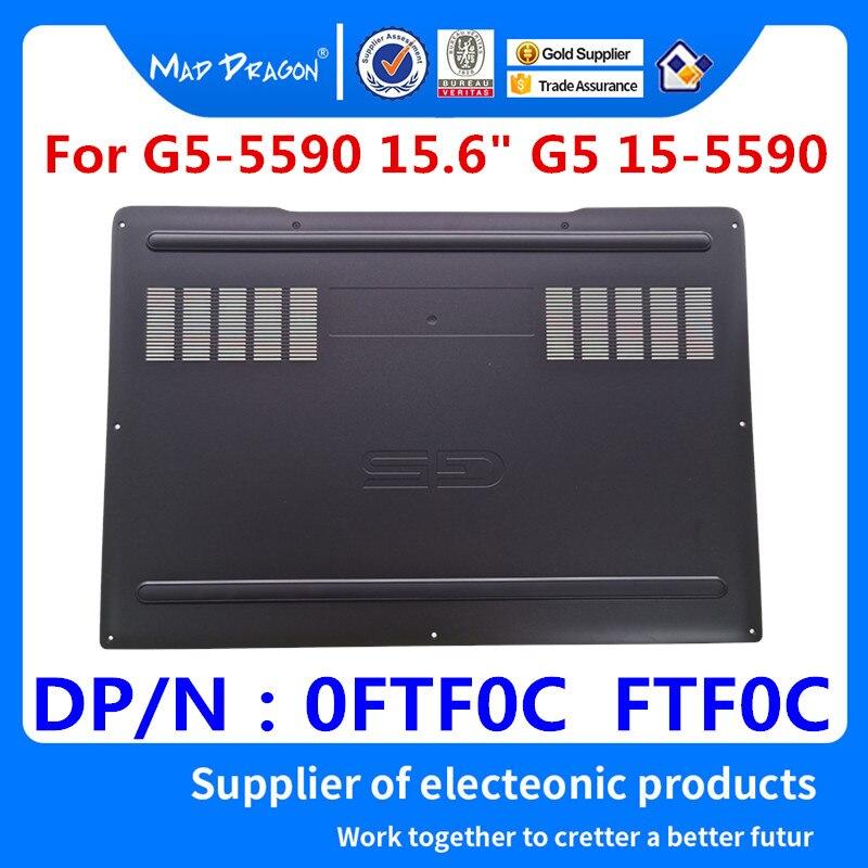 El dragón loco marca portátil Base inferior de la cubierta inferior de la Asamblea negro shell para Dell G5-5590 G5 15-5590 0FTF0C FTF0C 13N4-0HA030