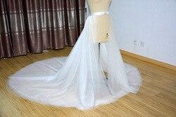 5 capas de tul removible falda nupcial de tul falda removible falda vestido de bola falda accesorios de boda decoración de cristal tren