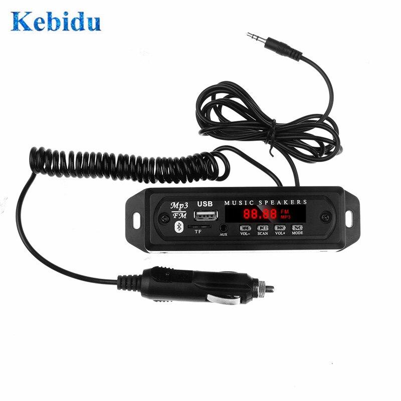 KEBIDU 5V 12V MP3 Decoder Board USB Power Supply TF Radio Audio Module For Car FM Radio Bluetooth Mp3 Player
