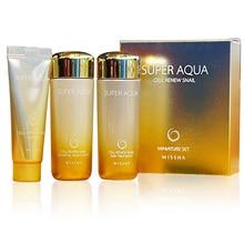 Snail-Trial-Kit Skin-Treatment Aqua-Cell MISSHA Cleasing-Foam Super Renew Essence-30ml
