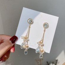 Trendy Elegant Created Long Bling Statement Wedding Party Jewelry Fashion New Vintage Earrings Christmas Gfit