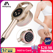 Multifunctional Heating Micro Electric Slimming Massager 3D Body Shaping LED Fat Burner Health Care Meridian Brush Anti Cellulit