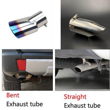 Accesorios de coche de acero inoxidable cromo tubo de escape cubierta de tubo trasero para Mitsubishi PAJERO V31 V33 V73 V93 V97 2007-2020