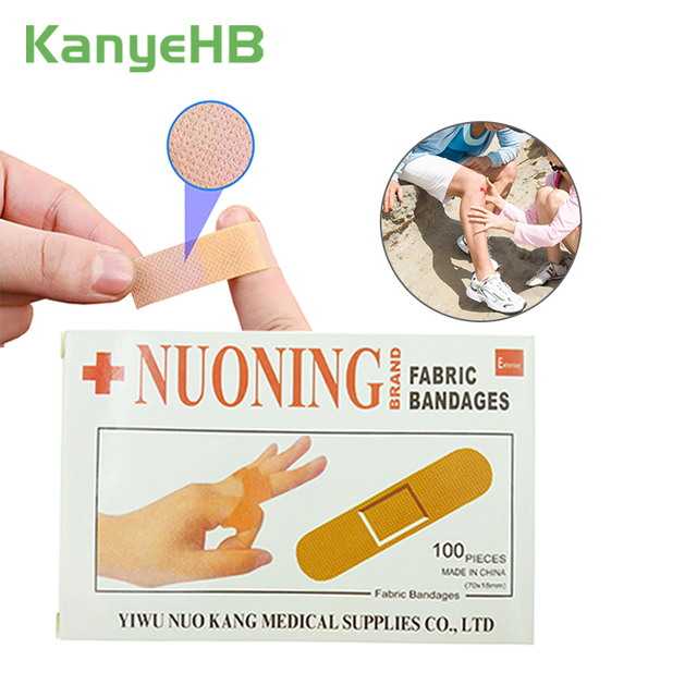 100pcs Waterproof Bandages First Aid Hemostasis Band-Aid Stickers Medical Plaster Wound Patches Emergency Kit H050