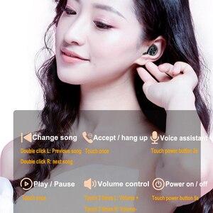 Image 3 - B5 tws Led ekran Bluetooth 5.0 kulaklık kablosuz kulaklıklar spor su geçirmez Mini kulaklık kulaklık Mic ile şarj kutusu