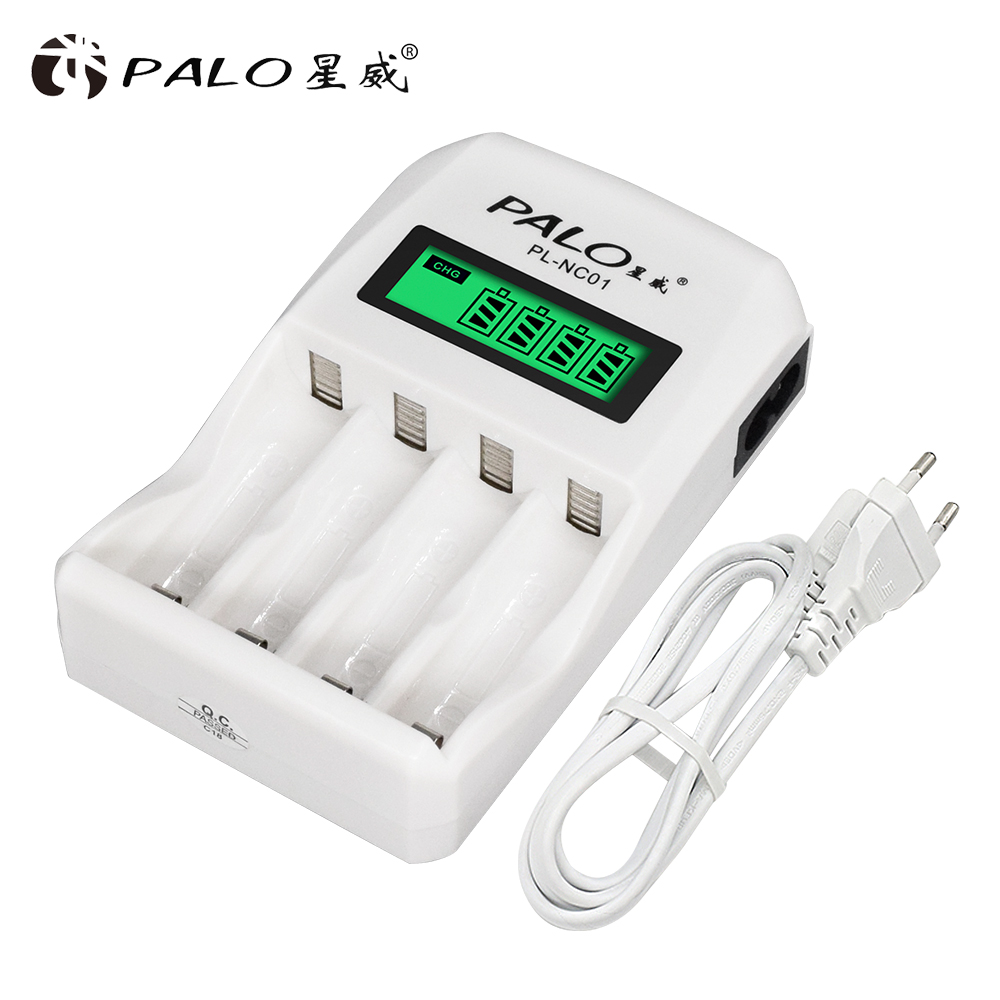 Wholesale PL-NC01 4 Slots LCD Display Smart Intelligent Battery Charger For AA AAA NiCd NiMh Rechargeable Batteries PALO Charger