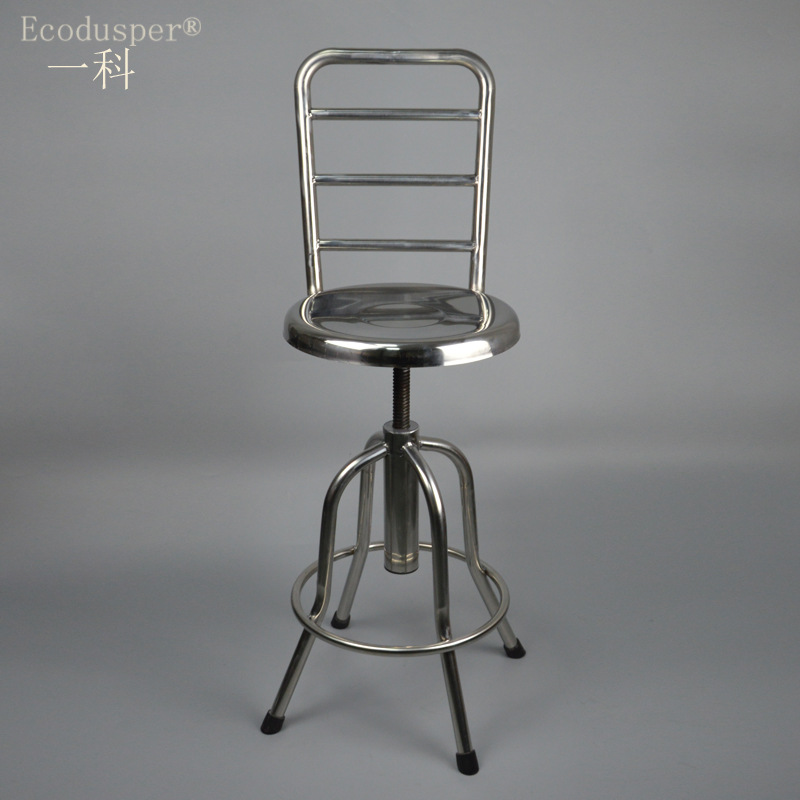 Manufacturers Production Customized Stainless Steel Chair Stainless Steel Round Stool Spiral Height Adjustable Surgical Round St