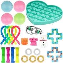 Fidget Toys Pack-Set TPR Marble Bing-Toy Pop It Squishy Antistress Mesh And Adhd/anxiety
