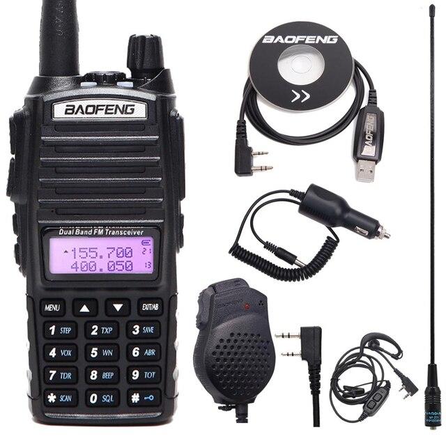 Baofeng UV 82 Plus 5 Watts Walkie Talkie Dual Band VHF/UHF 10km Long Range UV82 Two Way Ham CB Amateur Portable Rado
