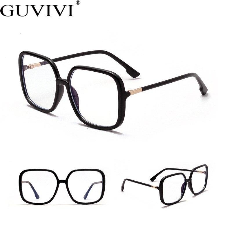 Guvivi Women Square Frames Glasses Men Anti Blue Eyewear Light Blocking Filter Reduces Clear Regular Computer Gaming Glasses