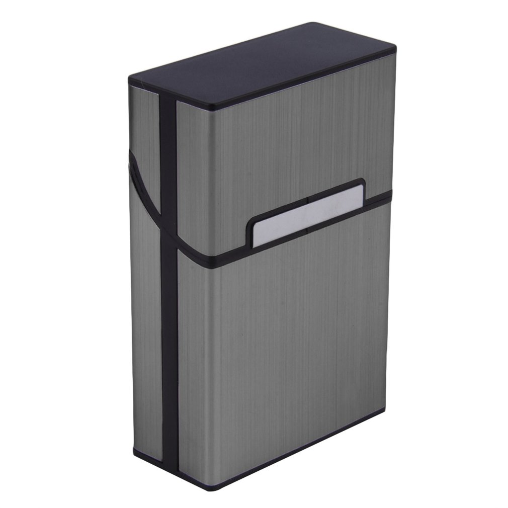 2019 Home Use Light Aluminum Cigar Cigarette Case Tobacco Holder Pocket Box Storage Container 6 Colors Discount