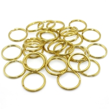 Solid Brass Split Rings Double Loop Keyring 10-35mm Keychain Keys Holder DIY Leather Craft hardware