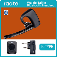 Walkie talkie Bluetooth headset Handsfree  PTT earpiece wireless headphone  for BaoFeng UV 82 UV 5R 888S Two Way Radio Moto Bike