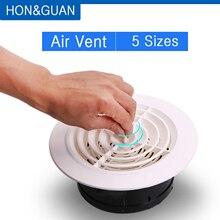 Hon& Guan круглое вентиляционное отверстие ABS жалюзи белая решетка крышка Регулируемая выхлопная подходит для ванной офиса кухни вентиляции