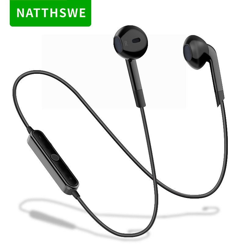 NATTHSWE Neckband Sports Wireless Bluetooth Earphone Mini In-ear Running Headset With Mic For Most Smartphones