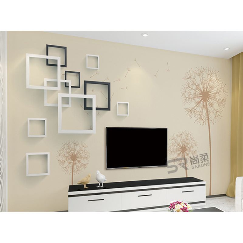 Minimalist Modern 3D TV Backdrop Wallpaper Living Room Film And Television Wall Paper Large Mural Seamless Wall Cloth