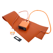 Оранжевое Силиконовое тепловое одеяло, цифровой дисплей, термостат, контроллер, гитарный Боковой изгиб, нагревательное одеяло для 3D принтера, кровать с подогревом