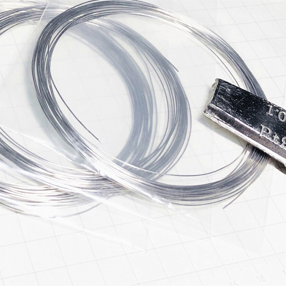 99.99% Platinum Wire Pure Diameter 0.3 0.4 0.5mm Pt Cable String 0-0.02mm Tolerance
