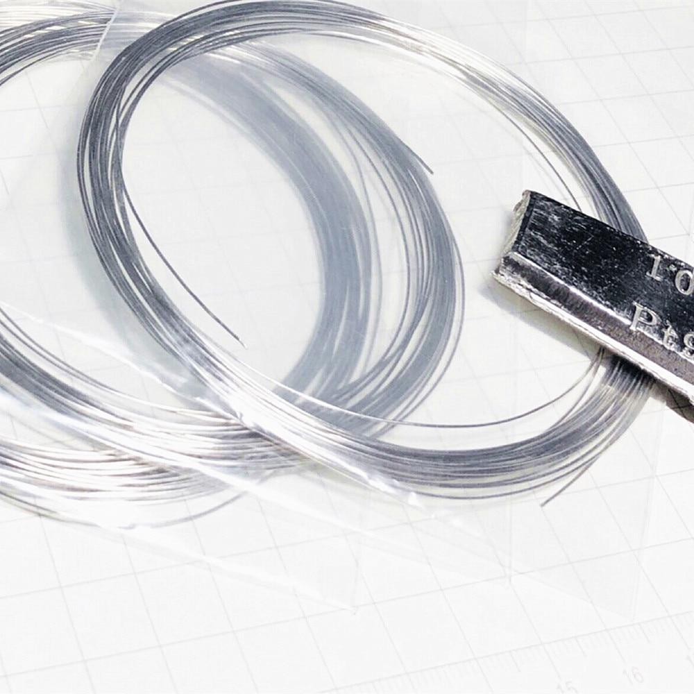 99.99% Platinum Wire Pure Diameter 0.3 0.4 0.5mm Pt Cable String 0-0.02mm Tolerance