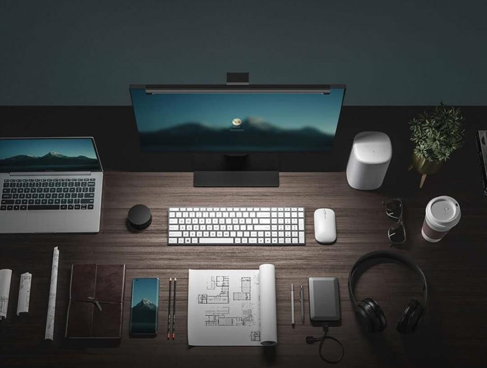 Xiaomi Mijia USB LED Screenbar Desk Lamp Computer Monitor Hanging Light w//2x AAA