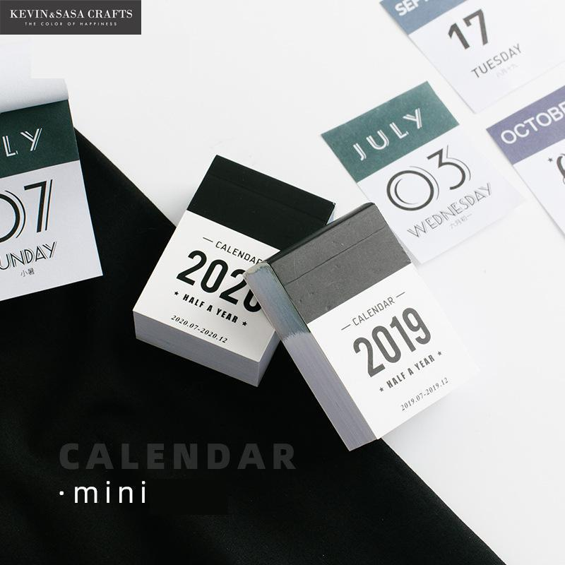 2020 ミニカレンダー 2019 紙小アジェンダ 2020 プランナーオーガナイザーオフィス用品スケジュールプランナー 2020 デスクオーガナイザー勉強