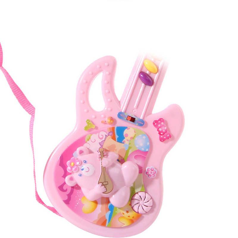 เด็กเครื่องดนตรีของเล่น Electric กีตาร์ Sound เด็กเพลงของเล่นรูปแบบการ์ตูนเด็กทารกที่มีสีสันของเล่นเพื่อการศึกษาของขวัญ