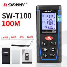 Sndway laser rangefinder 40m 60m 80m 100m melhor medidor de distância construir medida dispositivo régua fita laser range finder ferramenta teste