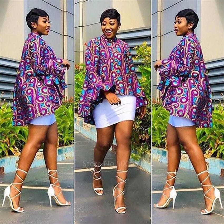 African Clothes 2020 News Full Sleeve Dashiki Print Ankara Maxi Top Fashion Clothing Ladies African Dresses for Women Ethnic