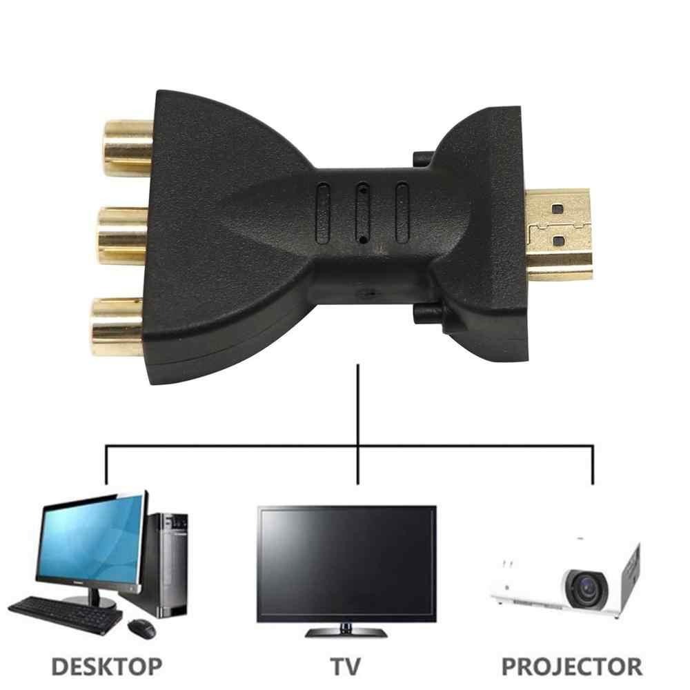 Nuevo 1080P SCART a HDMI Video Audio convertidor adaptador de señal con Cable adaptador de carga para Sky Box DVD STB