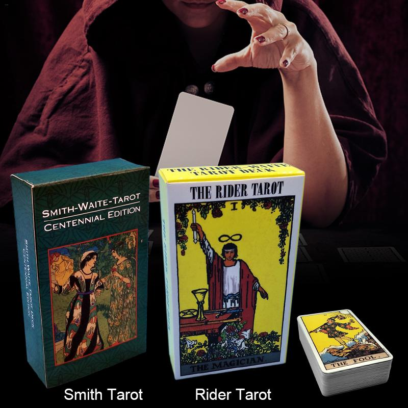 9 Models New Mystic Tarot Deck Cards English Read The Mythic Fate Divination For Fortune Rider Waite Tarot Cards Game Board Game