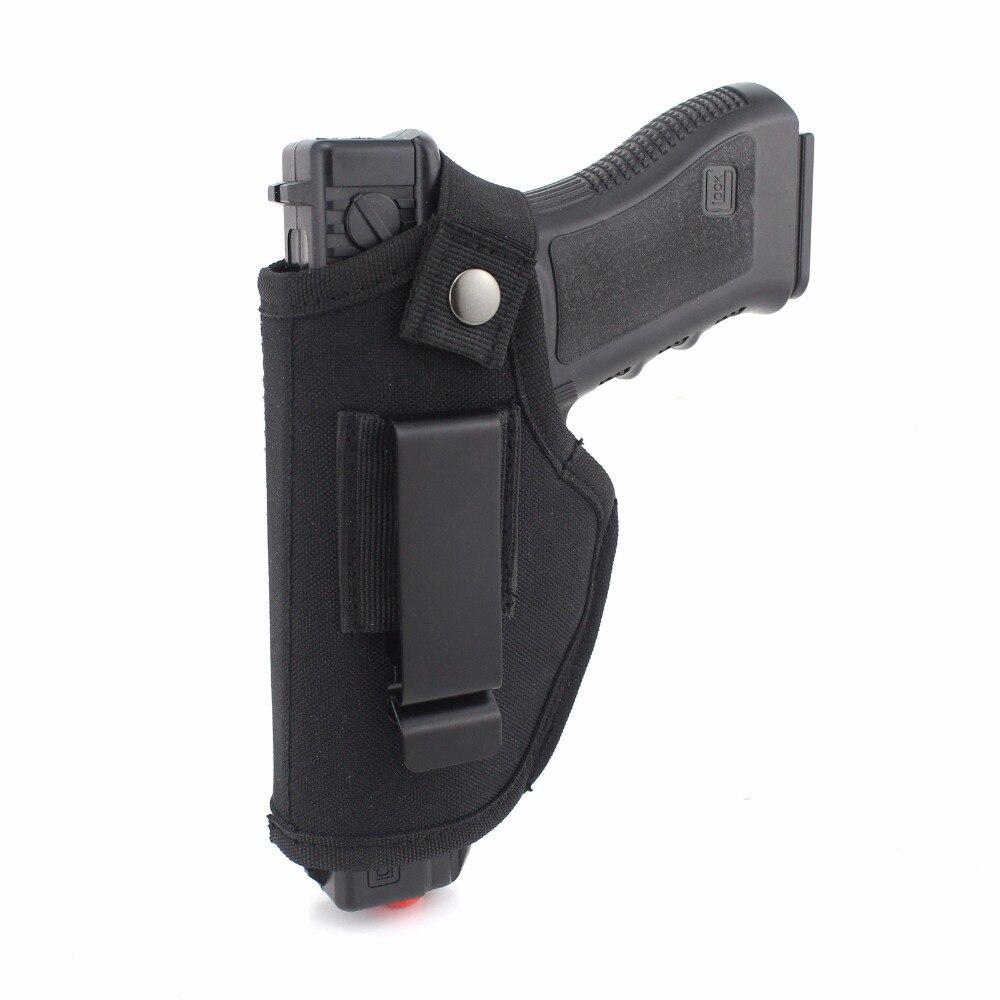 전술 총 홀스터 숨겨진 캐리 홀스터 벨트 금속 클립 Iwb Owb 홀스터 Airsoft 총 가방 모든 크기 권총