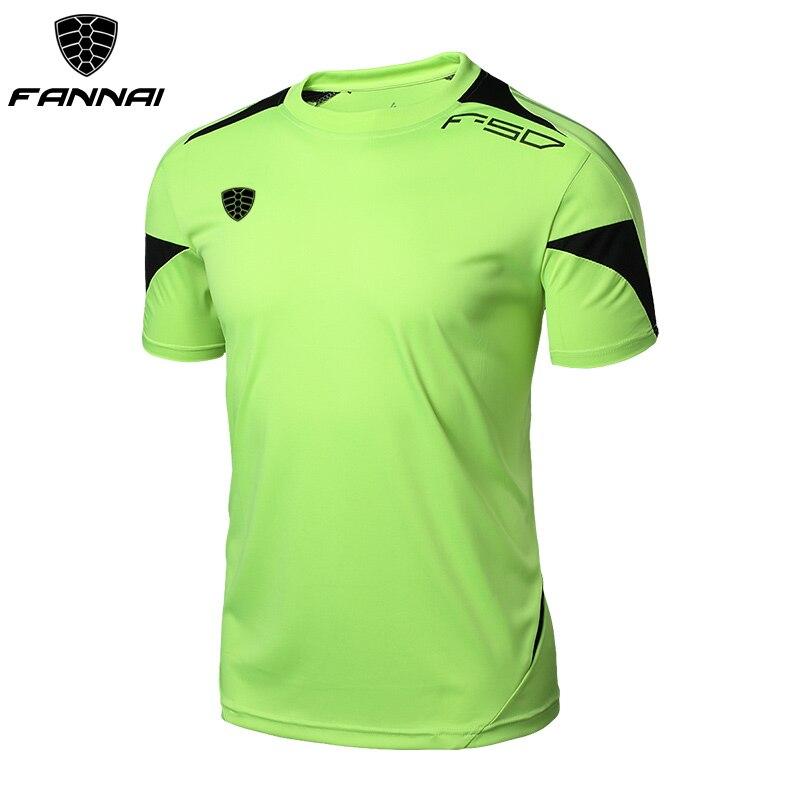 FANNAI Men Gym Shirt Running Shirts Quick Dry Fitness T-shirt Men's Tops Tees Clothing Short sleeve Jerseys Gym Sportswear 1