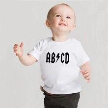 Camisetas infantis estampadas engraçadas, roupas para bebês, recém-nascidos, meninas, meninos, crianças, verão