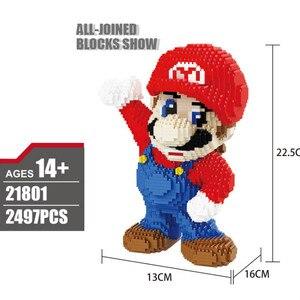 Image 3 - 2497Pcs 21801 21802 Super Mario Blok Diamant Micro Deeltje Ban Invoegen Plastic Bouwstenen Speelgoed Voor Kinderen Geschenken