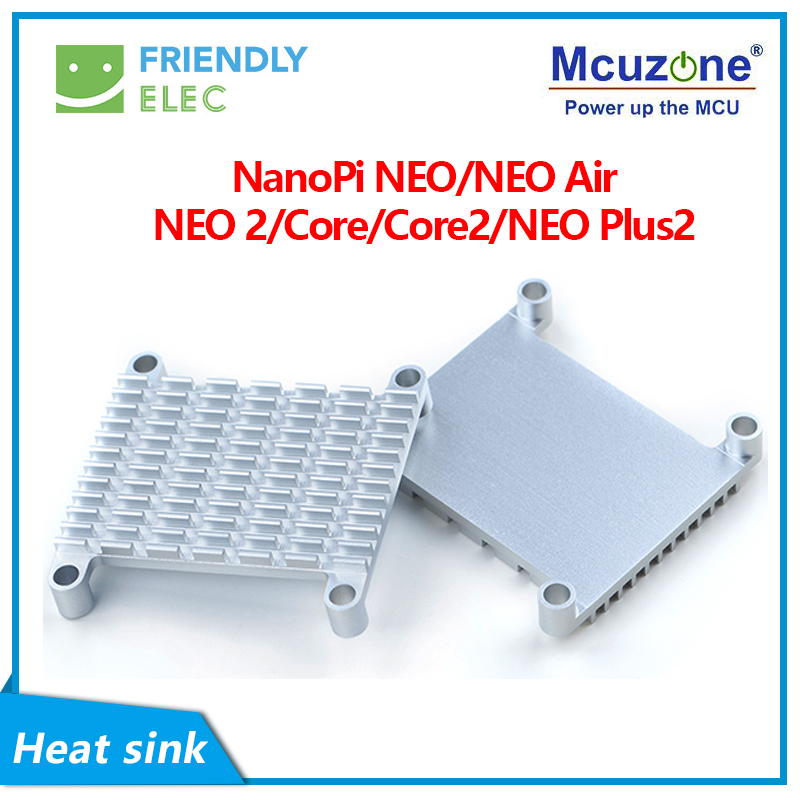 NanoPi NEO/NEO Air/NEO 2/Core/Core2/NEO Plus2 Aluminum Heat Sink With Thermal Paste And Screw Pitch 35.4*35.4 FriendlyELEC