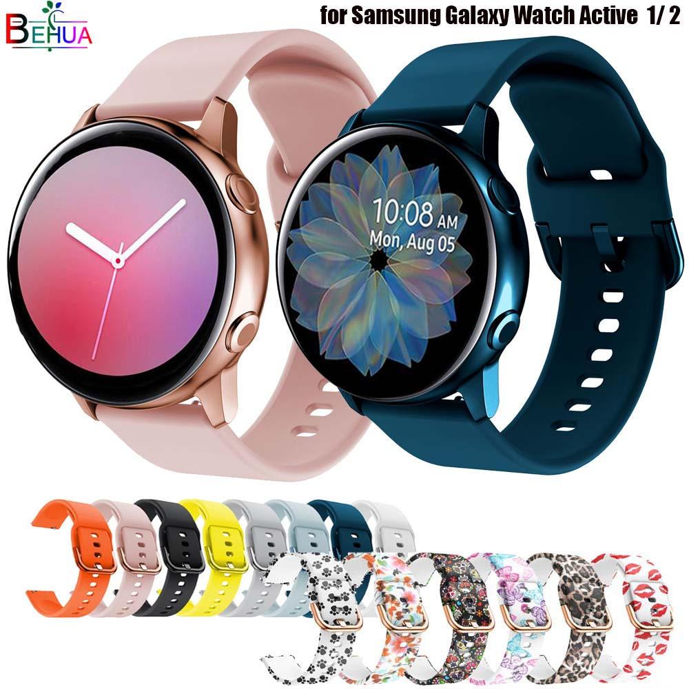 Ремешок силиконовый для смарт-часов, оригинальный браслет для Samsung Galaxy Watch Active 2 40/44 мм/3 41 мм, Huawei GT 2 42 мм, 20 мм