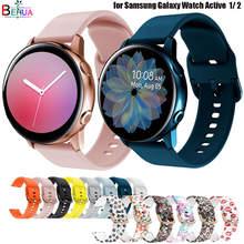 De silicona Original de 20mm banda correa para Samsung Galaxy ver activo 2/40/44mm/3/41mm reloj pulsera para Huawei GT 2 de 42mm