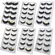 YSDO 5 pairs false eyelashes 3d mink natural hair long volume lash dramatic fluffy makeup lashes thick fake