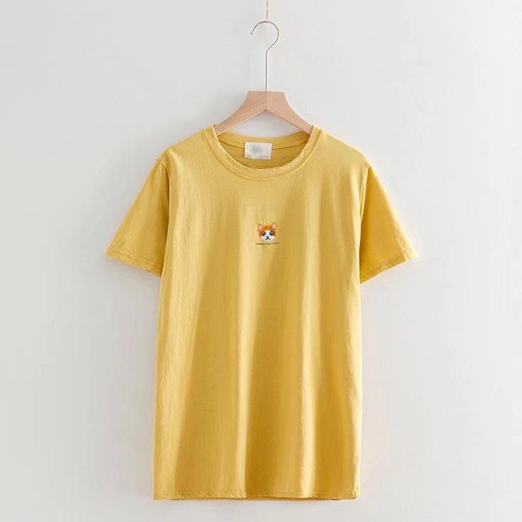 Женская футболка с коротким рукавом, Модная хлопковая Футболка с круглым вырезом, лето 2019
