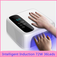 72W Powerful UV Lamp 36LEDs Auto Sensor UV LED Lamp Timer And Smart Sensor Nail Dryer For All Kinds of Gel