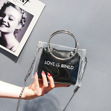 Women Bag/Jelly Transparent Bag 2019 Messenger Women/Jelly Handbag Chain/Luxury/High Quality Party