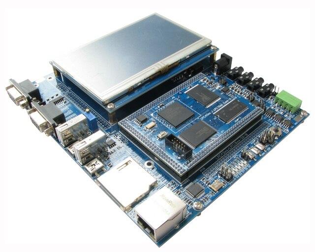 Lpc4357 desenvolver placa de alta velocidade usb rede 4.3 polegada lcd 204 mhz m4 m0 duplo-processador de núcleo