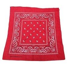 Bandana scarf with square black white paisley pattern on both sides square scarf with paisley print