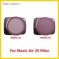 Stokta PGYTECH için Mavic hava 2S VND filtre 2-5 durur 6-9 durur hızlı yayın kamera Lens filtre hava 2S Drone aksesuarları