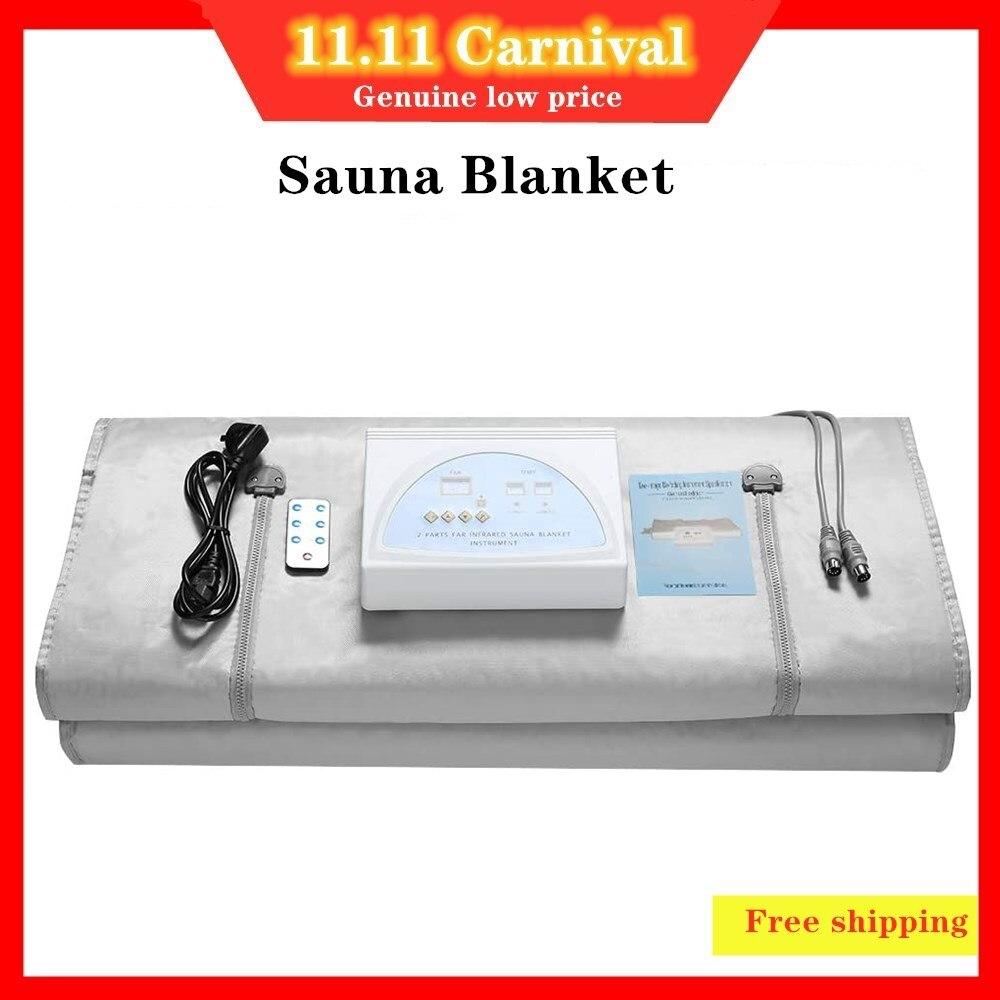 Одеяло с подогревом для сауны, Детокс-терафей, массаж тела, для похудения, для домашнего спа, для улучшения здоровья тела