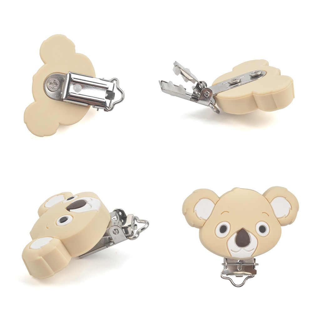 LOFCA 1 pieza Clip de silicona en forma de Koala para sostenedor para chupete de bebé mordedor accesorios para la dentición Clip de chupete broches juguete DIY herramientas