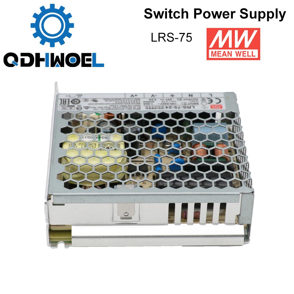 H2ecc1b6868484ceea6a0adae2bffcc53W - Meanwell LRS-75 Switching Power Supply 12V 6A / 24V 3.2A 75W Original MW Taiwan Brand for Laser Controller