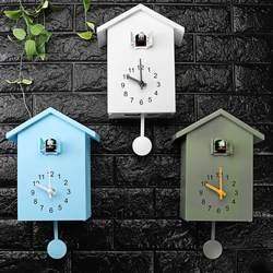 3 kolory kukułka zegar ścienny kwarcowy nowoczesny ptak dom salon wiszący zegarek Horologe zegary zegar biuro prezenty do dekoracji domu|Zegary ścienne|   -