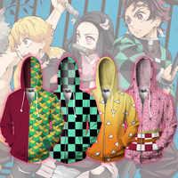 Anime hoodies Sweatshirt Dämon Slayer Kimetsu keine Yaiba Kamado Tanjirou Cosplay Kostüm Männer Frau Jacke Mit Kapuze Top